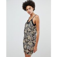 N12H Midnight Blooms Lace Slip Dress - Lace