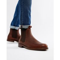 Polo Ralph Lauren normanton leather chelsea boots in brown - Brown