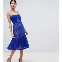 Jarlo TallJarlo Tall Cami Strap Lace Midi Dress - Cobalt