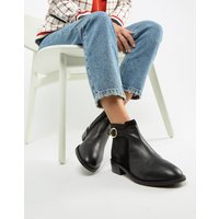 Accessorize Flat Leather Buckle Trim Boot