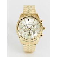 Michael Kors MK8281 Lexington Gold Chronograph Watch - Gold