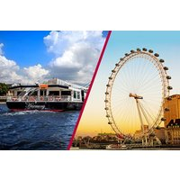 Coca-Cola London Eye Tickets with Bateaux Classic Sunday Lunch Cruise for Two - Lunch Gifts