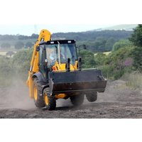 Jcb Digger Racing At Diggerland Picture