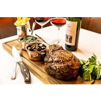 Steak Sharing Platter With A Bottle Of Wine For Two At Smith And Wollensky Picture