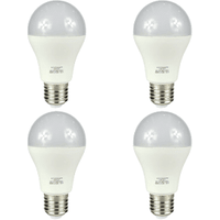 4 Pack 6.5W LED E27 Screw Standard GLS Bulb - Warm White Frosted