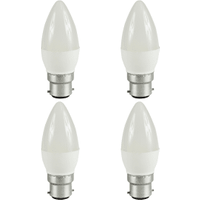 4 Pack B22 Bayonet LED 5.5W Candle Bulb (40W Equivalent) 470 Lumen - Warm White Frosted