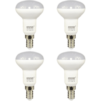 4 Pack E14 Small Screw LED 6W R50 Spotlight Bulb (40W Equivalent) 470 Lumen - Warm White Frosted
