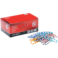 5 Star Assorted 28mm Zebra Paperclips (150 Pack)