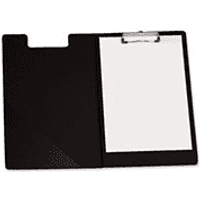 5 Star Black Foolscap Fold Over Clipboard