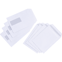 5 Star C5 90gsm White Press Seal Window Envelopes (50 Pack)