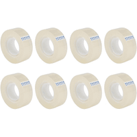 5 Star Easy Tear Clear Tape (19mm x 33m) 8 Pack