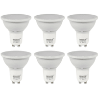 6 Pack of GU10 LED 5W Spotlight Bulb (50W Equivalent) 345 Lumen - Warm White