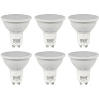 6 Pack of GU10 LED 5W Spotlight Bulb (50W Equivalent) 360 Lumen - Warm White