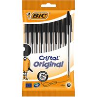 Image of BIC Cristal Ballpoint Pen - Black (10 Pack)