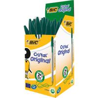 Image of BIC Cristal Ballpoint Pen - Green (50 Pack)
