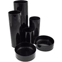 Black Desk Tidy (5 Tubes, 2 Shallow Trays)