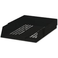 Black Plastic Letter Tray