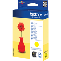 Brother LC121Y Yellow Ink Cartridge (Original)