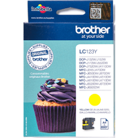 Brother LC123Y Yellow Ink Cartridge (Original)