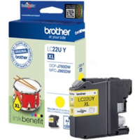 Brother LC22UY Yellow High Capacity Ink Cartridge (Original)