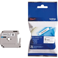 Brother MK221SBZ Original P-Touch Black on White Tape 9mm x 4m