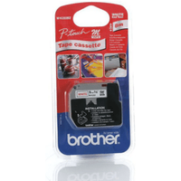 Brother MK222BZ Original P-Touch Red on White Tape 9mm x 8m