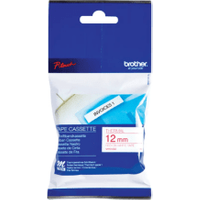 Brother MK232BZ Original P-Touch Red on White Tape 12mm x 8m