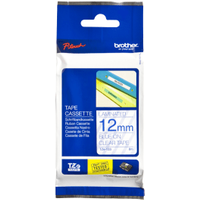 Brother TZE-133 Original P-Touch Blue on Clear Laminated Tape 12mm x 8m