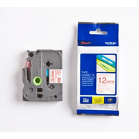 Brother TZE-232 Original P-Touch Red on White Tape 12mm x 8m