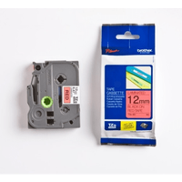 Brother TZE-431 Original P-Touch Black on Red Tape 12mm x 8m