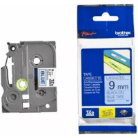 Brother TZE-521 Original P-Touch Black on Blue Laminated Tape 9mm x 8m