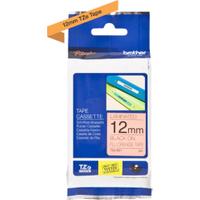 Brother TZE-B31 Original P-Touch Black on Fluorescent Orange Laminated Tape 12mm x 5m