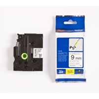 Brother TZE-FX221 Original P-Touch Black on White Flexible ID Laminated Tape 9mm x 8m