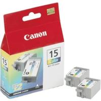 Canon BCI-15BK Original Black Ink Cartridge Twinpack