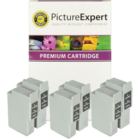 Canon BCI-24 Compatible Black & Colour Ink Cartridge 6 Pack