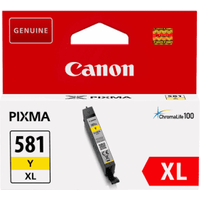 Canon CLI-581Y XL Yellow High Capacity Ink Cartridge (Original)