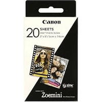 Canon ZINK 5 x 7.6 cm White Self-Adhesive Glossy Photo Paper x 50