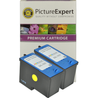 Dell JF333 Compatible Colour Ink Cartridge x2