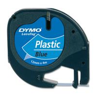 Dymo LetraTAG 91205 Blue Plastic Tape - 12mm x 4m
