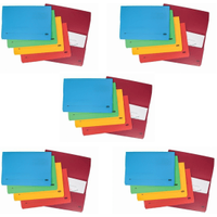 Elba Bright Foolscap Assorted Document Wallets (Pack 25)