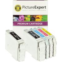 Compatible Epson T0321 / T0422 / T0423 / T0424 Black & Colour Ink Cartridge 5 Pack