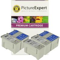Epson T040 / T041 Compatible Black & Colour Ink Cartridge 5 Pack