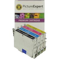 Compatible Epson T0445 Black & Colour Ink Cartridge 4 Pack