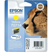 Epson T0714 Yellow Ink Cartridge (Original)