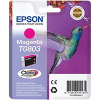 Epson T0803 Magenta Ink Cartridge (Original)