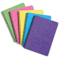 Europa Notemaker 120 Page A5 Sidebound Ruled 80gsm Book - Assorted (10 Pack)
