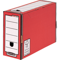 Image of Fellowes Bankers Box Premium Transfer File Red/White (Pack of 10) 0005802