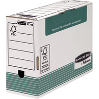 Image of Fellowes Bankers Box Transfer File 120mm FC Green (Pack of 10) 1179201