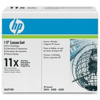 HP 11X ( Q6511XD ) Original Black Toner Cartridge Twinpack