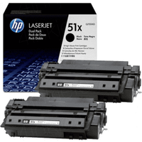 HP 51X ( Q7551XD ) Original Black Toner Cartridge Twinpack